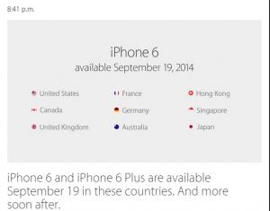 Primele 9 tari care primesc iPhone 6 si 6 Plus