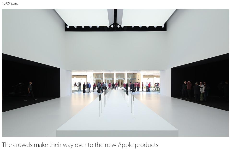 Publicul testeaza noile produse Apple iPhone 6 si 6 Plus