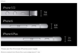 grosime iphone 6 si 6 plus
