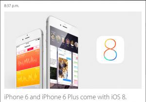 iOS 8 vine alaturi de modelele 6 si 6 plus