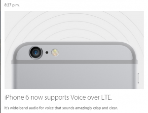 iPhone 6 suporta voice over LTE