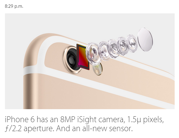 iphone 6 si noua sa camera iSight