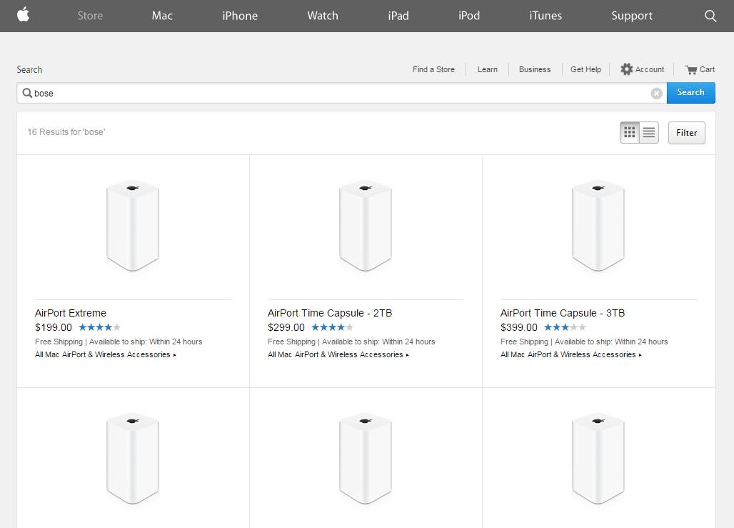 Bose scos din apple online store