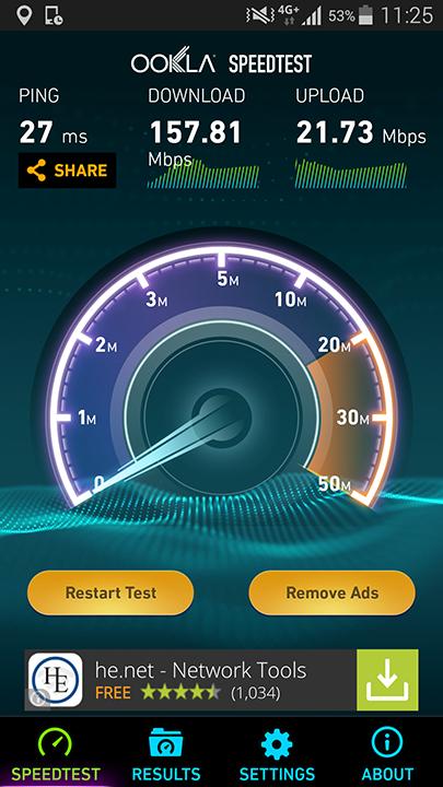 Samsung S5 4G+ Test Viteza