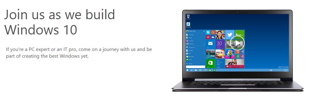 Windows 10 Insider Progam