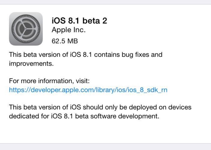 ios 8.1 beta 2