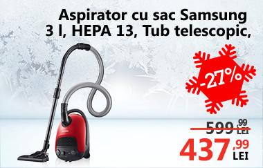 Aspirator cu sac Samsung VC15F30WNBR GE