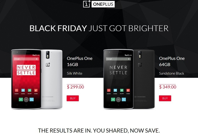 Black Friday One Plus One