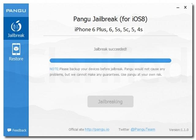 Jailbreak Pangu efectuat