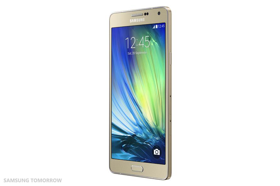 Samsung Galaxy A7 SM-A700F auriu lateral