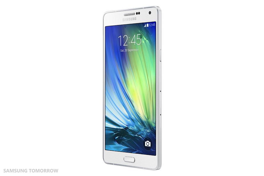 Samsung Galaxy A7 SM-A700F alb lateral