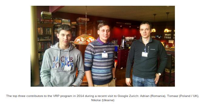 Google Android Rewards Winners