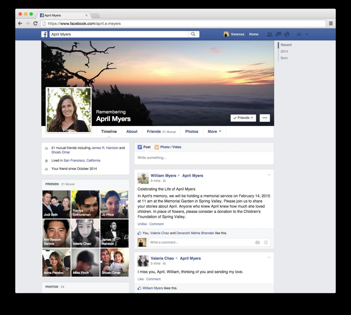 Facebook cont dupa ce mori