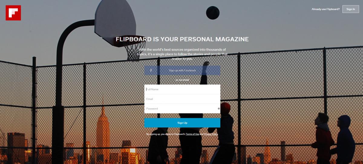 varianta flipboard pentru web