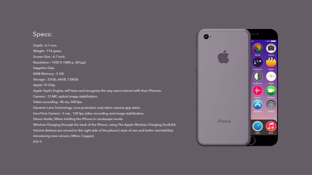iPhone 7 - specificatii tehnice mai performante decat iPhone 6 si 6 Plus