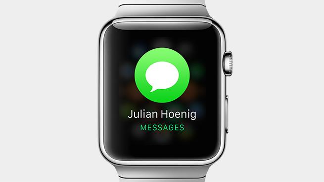 Citesti mesajele direct pe Apple Watch