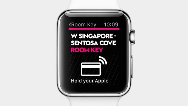 Apple Watch cartela de acces pentru camere de hotel