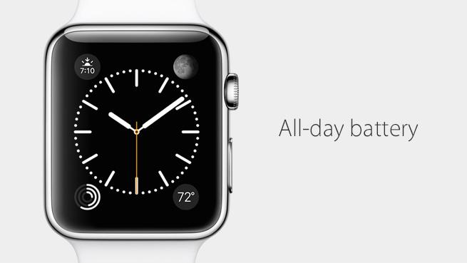 Bateria lui Apple Watch 18 ore