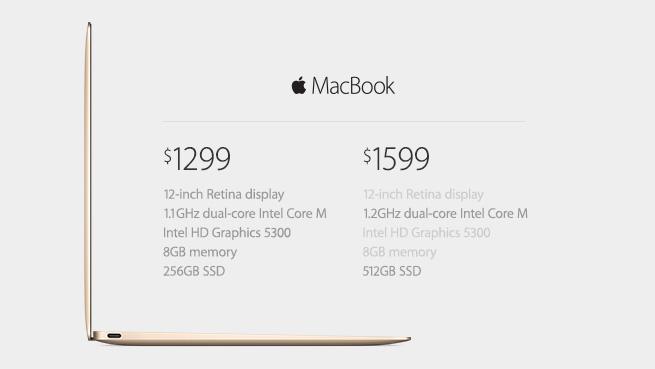 Preturile pentru noile Macbook-uri