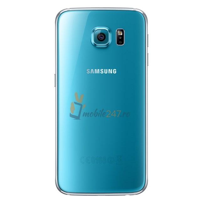 spatele lui Samsung Galaxy S6 albastru