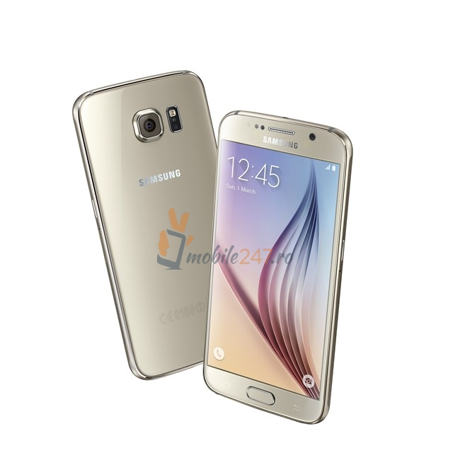 Samsung Galaxy S6 din fata si lateral