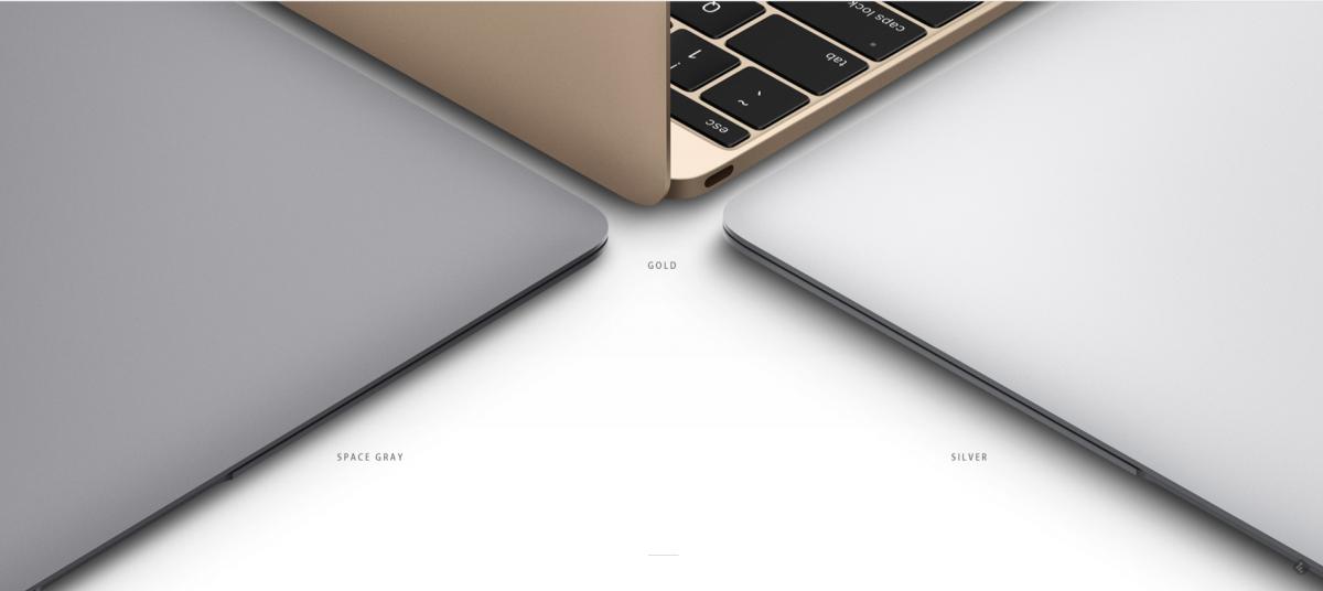 Macbook 12 inch culori - gold, space gray