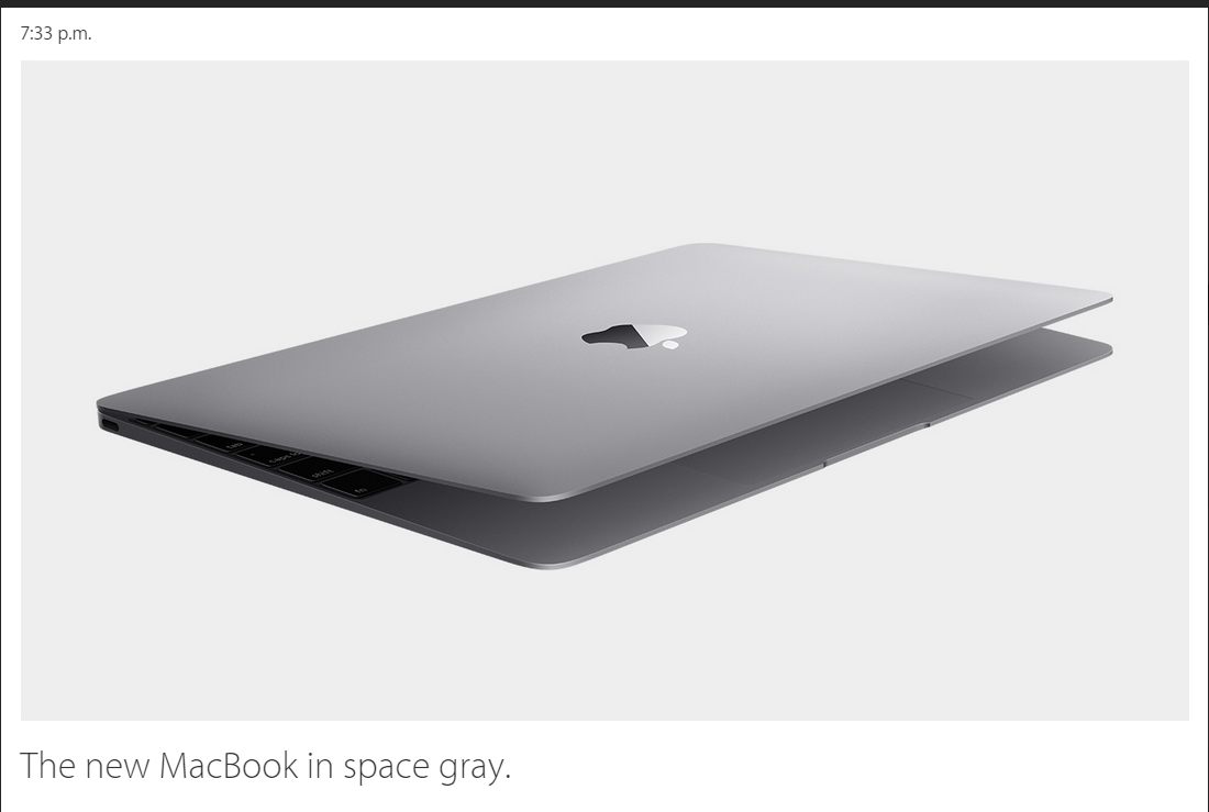 Macbook 12 inch space gray