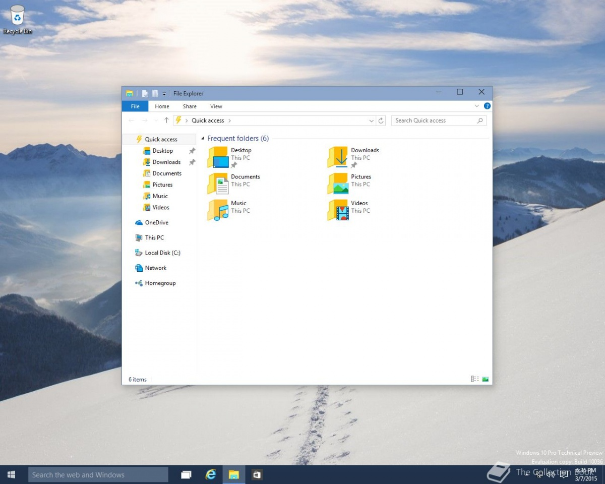 Un nou build WIndos 10 tehnical preview a aparut pe internet