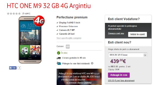 Oferta pentru HTC ONE M9 Vodafone