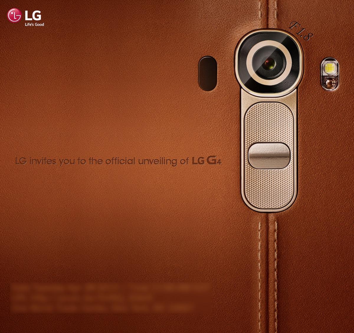 LG G4 lansare