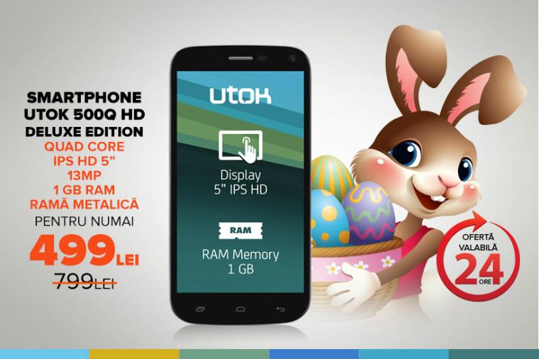 Telefonul ideal pentru cadoul de paste UTOK 500Q HD Deluxe Edition