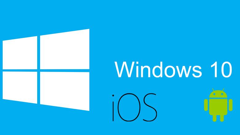Cu Windows 10 se poate vor putea utiliza aplicatii pentru Android sau iPhone