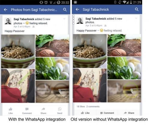 Facebook si Whatsapp vor avea o functie comuna