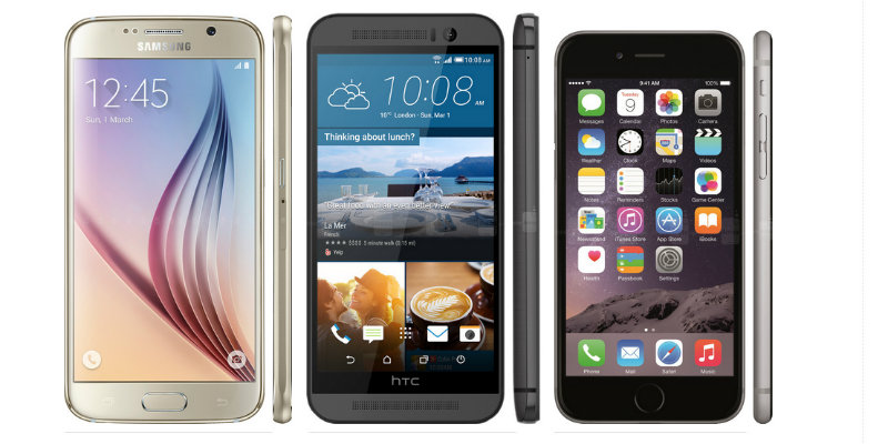 iphone 6 vs samsung galaxy s6 edge vs htc one m9