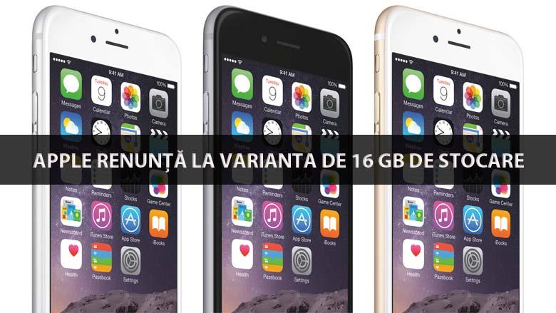 Apple renunta la varianta de 16 gb pentru iphone 6s