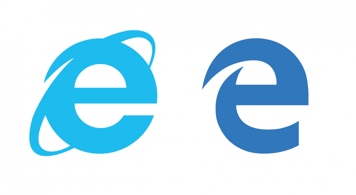 Microsoft edge vs internet explorer logo