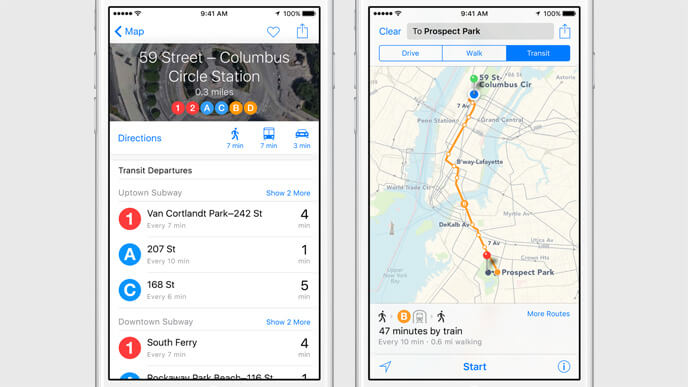 Apple Maps are suport pentru transportul public
