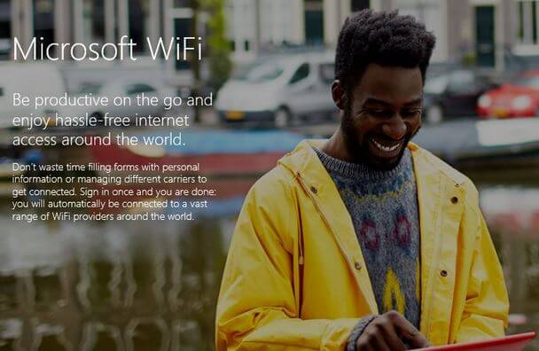 Microsoft Wifi serviciu nou de la microsoft
