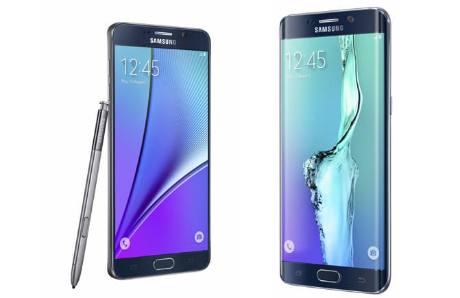 Samsung Galaxy Note 5 and Samsung Galaxy S6 Edge +
