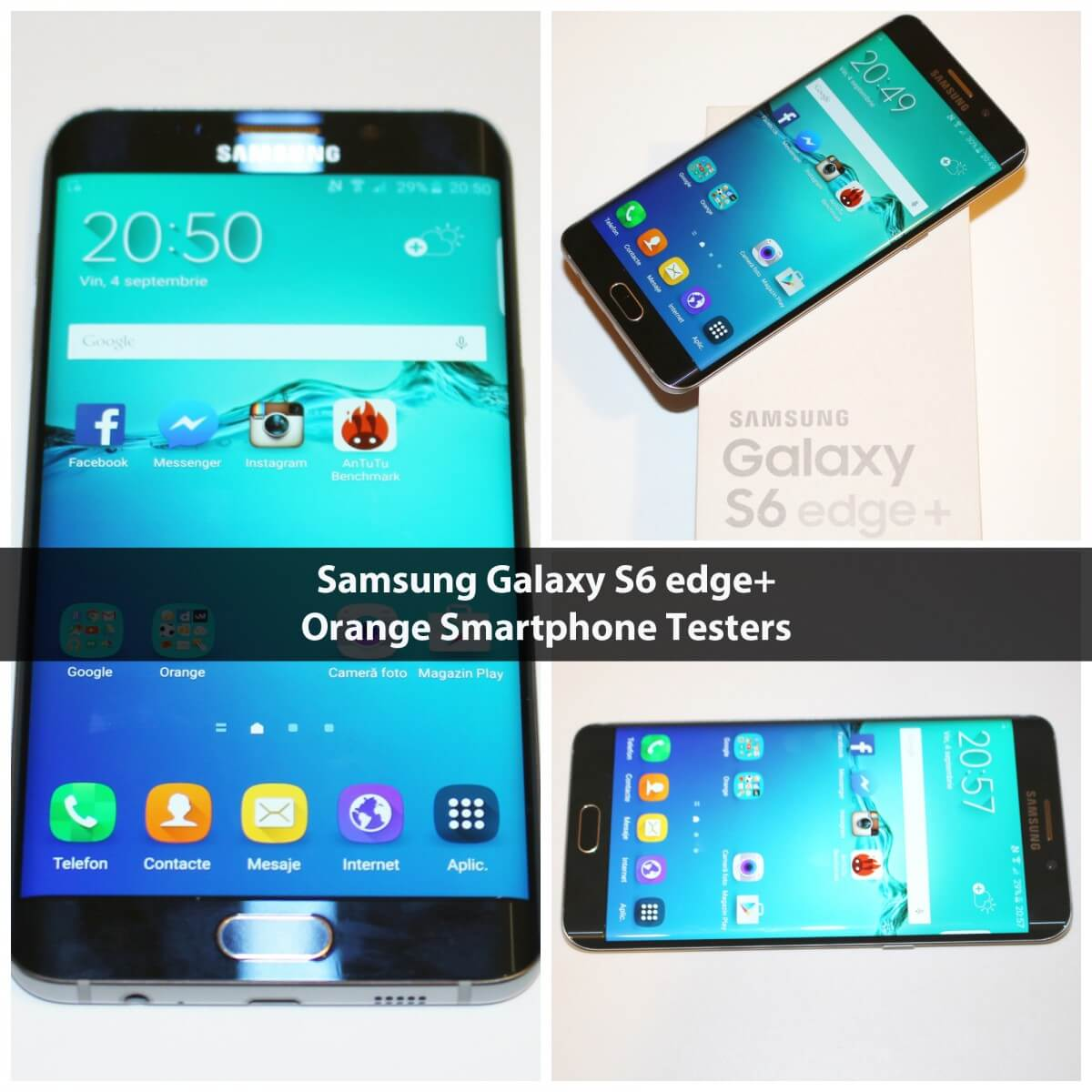 Samsung Galaxy S6 Edge+ Orange Smartphone Testers