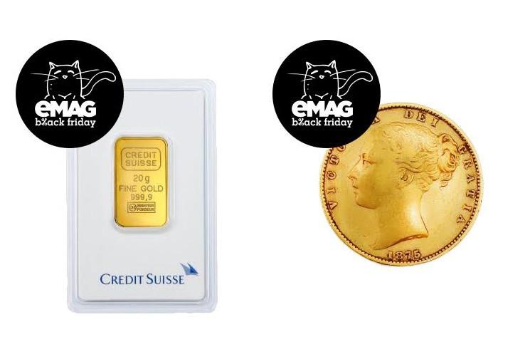 emag va vinde lingouri si monede de aur