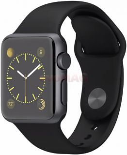 1434547255Smartwatch+Apple+Watch,+Retina+Display,+Bluetooth,+Wi-Fi,+Bratara+silicon+38mm,+Carcasa+din+aluminiu,+Rezistent+la+apa+si+praf+(Argintiu+Negru)