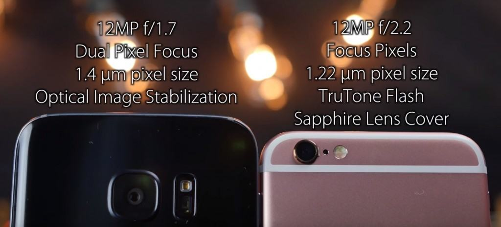 Diferente camera Samsung S7 vs iPhone 6s