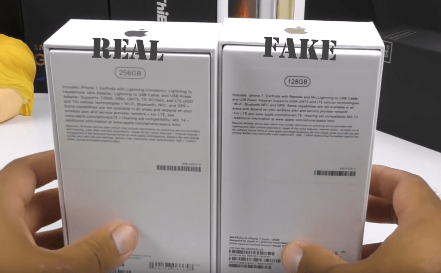 Iphone 7 Real vs Fake