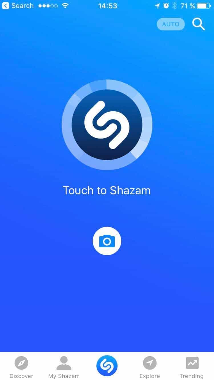 Căutare Shazam