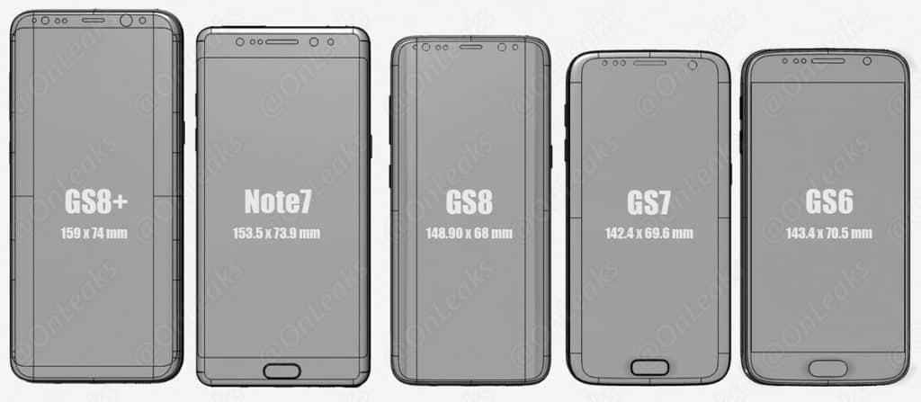 Samsung S8 comparat cu s8, note 7, s7, s6
