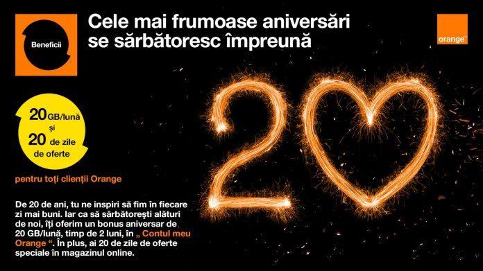 20 de ani orange