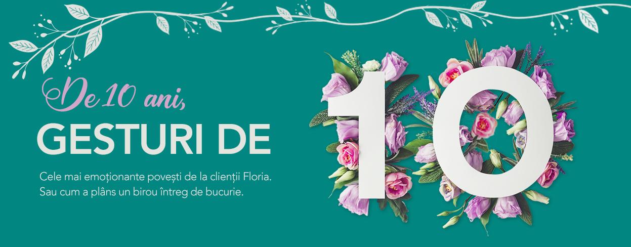 Floria.ro 10 ani buchete de flori